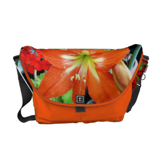 Special Design Messenger Bag With Amaryllis Flower