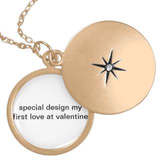 Special design my first love at valentine ! locket necklace