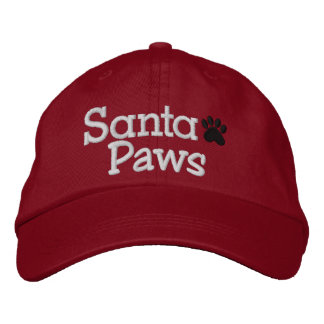 SPECIAL DISCOUNT SANTA PAWS Cap Embroidered Baseball Caps