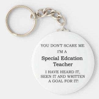 Special Ed. Teacher Basic Round Button Keychain