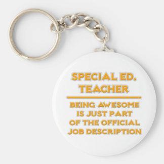 Special Ed Teacher .. Job Description Keychain
