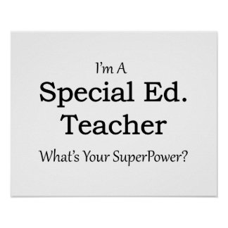 Special Ed. Teacher Poster