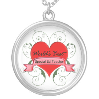 Special Ed. Teacher Silver Plated Necklace