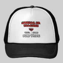 Special Ed. Teacher ... Will Work For Wine Mesh Hat