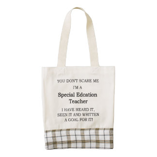 Special Ed. Teacher Zazzle HEART Tote Bag