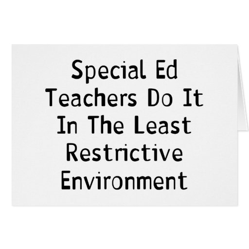Special Ed Teachers Greeting Card