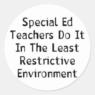 Special Ed Teachers Classic Round Sticker