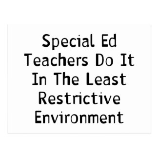Special Ed Teachers Postcard