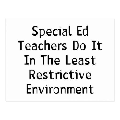 Special Ed Teachers Postcard