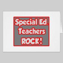 Special Ed. Teachers Rock! Cards