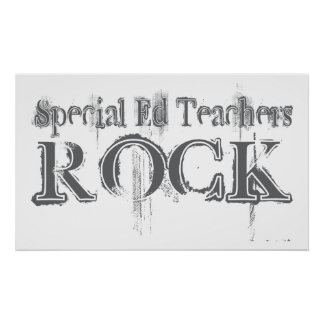 Special Ed Teachers Rock Posters