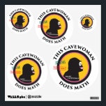 """Special Edition STEM Smart Gear Math Cavewoman Wall Sticker<br><div class=""""desc"""">Created specially for the MIT Women&#39;s Initiative Event in south Orange County January 2018. Profits go to the nonprofit,  MASTERthese,  the main organizer for this event.</div>"""