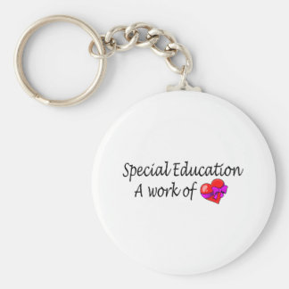 Special Education A Work Of Love Basic Round Button Keychain