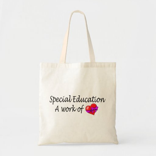 Special Education A Work Of Love Canvas Bags