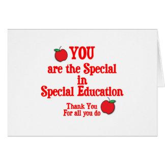 Special Education Appreciation Card