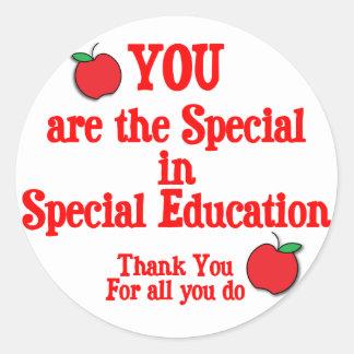 Special Education Appreciation Classic Round Sticker