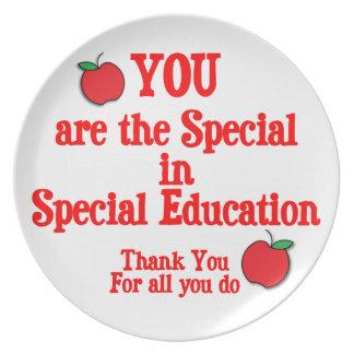 Special Education Appreciation Dinner Plate