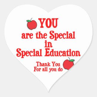 Special Education Appreciation Heart Sticker