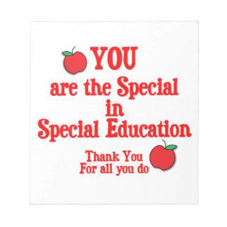 Special Education Appreciation Notepad