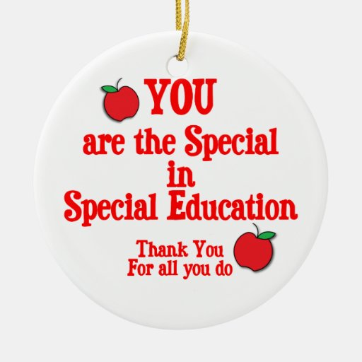Special Education Appreciation Double-Sided Ceramic Round Christmas Ornament