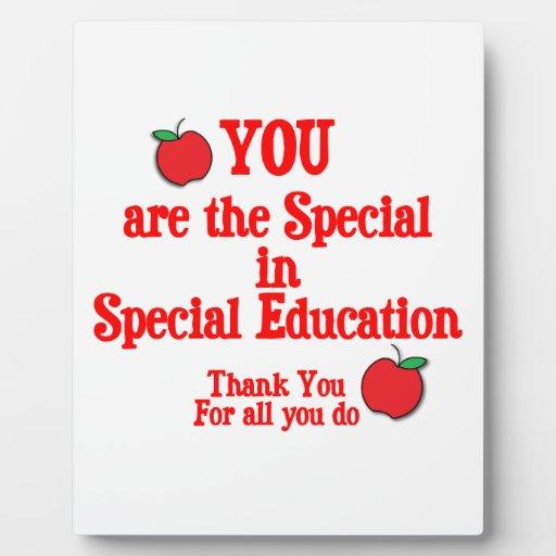 Special Education Appreciation Plaque