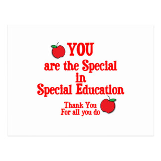 Special Education Appreciation Postcard