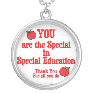 Special Education Appreciation Round Pendant Necklace