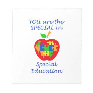 SPECIAL EDUCATION MEMO NOTEPAD