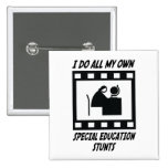 Special Education Stunts 2 Inch Square Button
