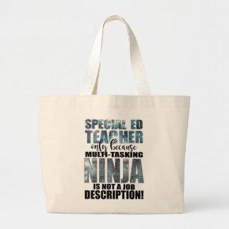 Special Education Super Ninja Teacher Large Tote Bag