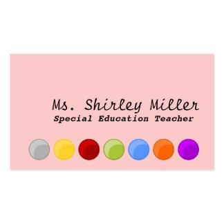 Special Education Teacher Business Card