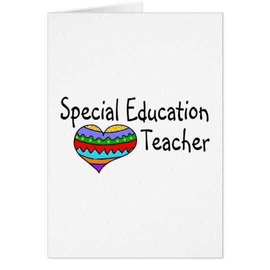 Special Education Teacher Card