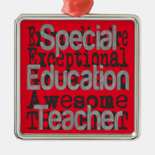 Special Education Teacher Extraordinaire Metal Ornament