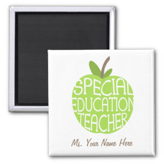 Special Education Teacher Green Apple Magnet
