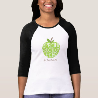 Special Education Teacher Green Apple Shirt