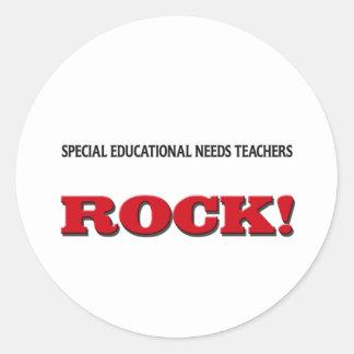 Special Educational Needs Teachers Rock Round Sticker