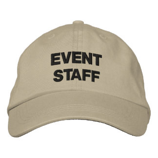 Special Event Crew EVENT STAFF Custom Words Colors Embroidered Baseball Caps