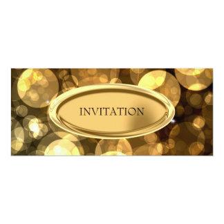 Special Event Elegant Black & Gold Bubbles 3 Card