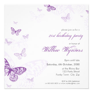 SPECIAL EVENT INVITES butterflies 3SQ
