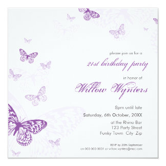 SPECIAL EVENT INVITES :: butterflies 3SQ