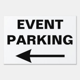 Special Event PARKING Directional Arrow Yard Sign