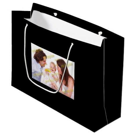 Special Family Photo Large Gift Bag