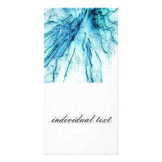 special fireworks, aqua custom photo card