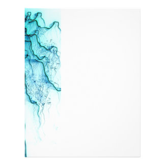 special fireworks, aqua personalized letterhead