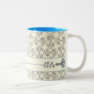 Special Floral Vintage Pattern Two-Tone Coffee Mug