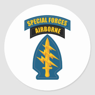 Special Forces Airborne Classic Round Sticker