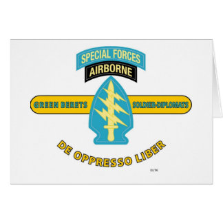 "SPECIAL FORCES AIRBORNE ""DE OPPRESSO LIBER"" CARD"