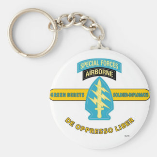 "SPECIAL FORCES AIRBORNE ""DE OPPRESSO LIBER"" KEYCHAIN"