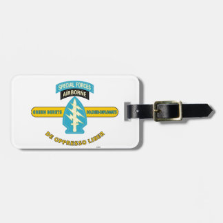 "SPECIAL FORCES AIRBORNE ""DE OPPRESSO LIBER"" LUGGAGE TAG"