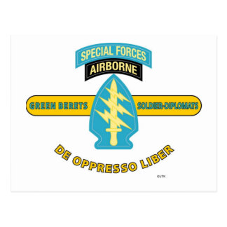 "SPECIAL FORCES AIRBORNE ""DE OPPRESSO LIBER"" POSTCARD"